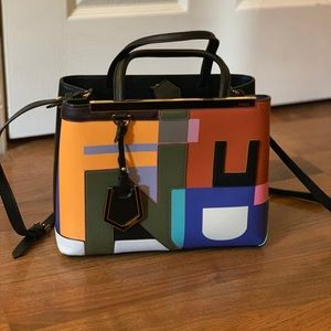 Fendi 2jours - Color-block Lettering